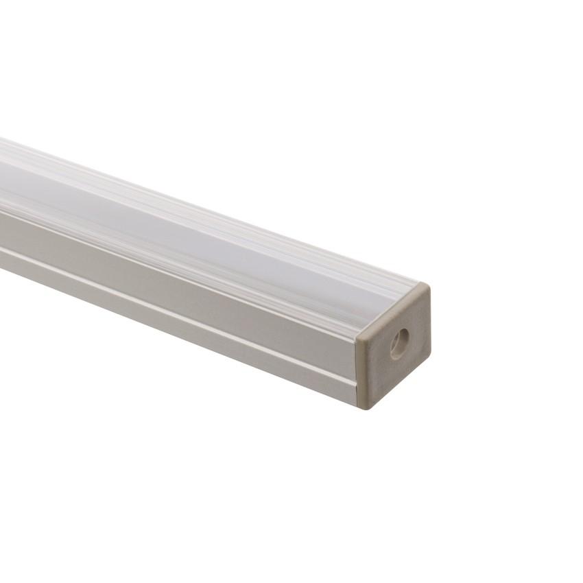Profilo in alluminio 1m per strisce led 220v monocolore - Strisce led per mobili ...
