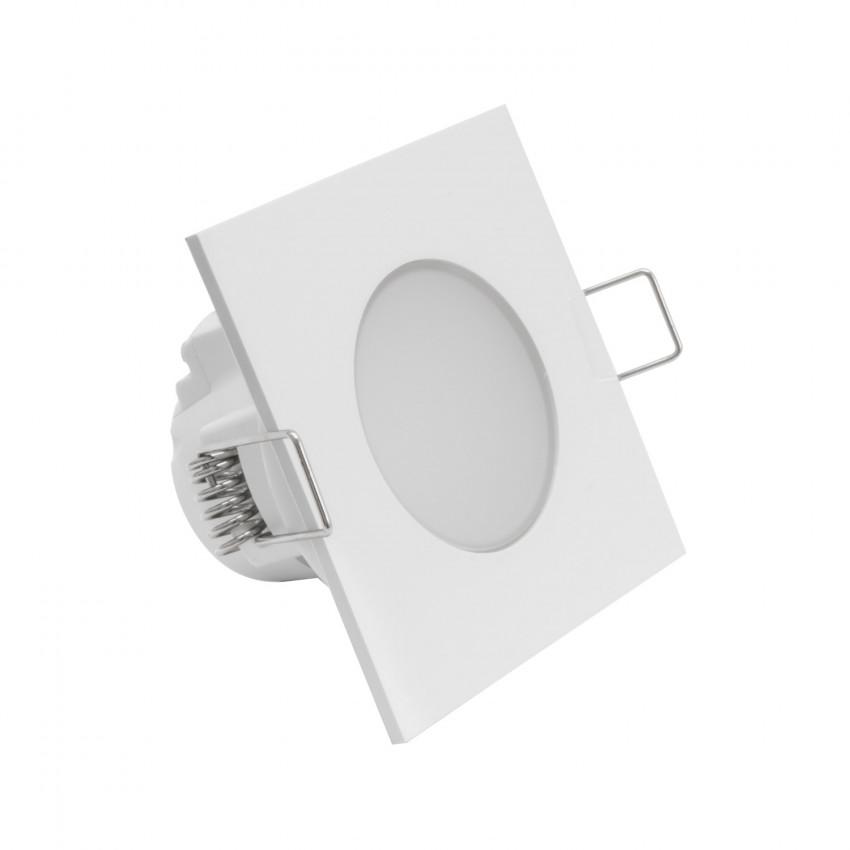 Downlight LED Quadrato Waterproof  IP54 Foro Ø 65 mm