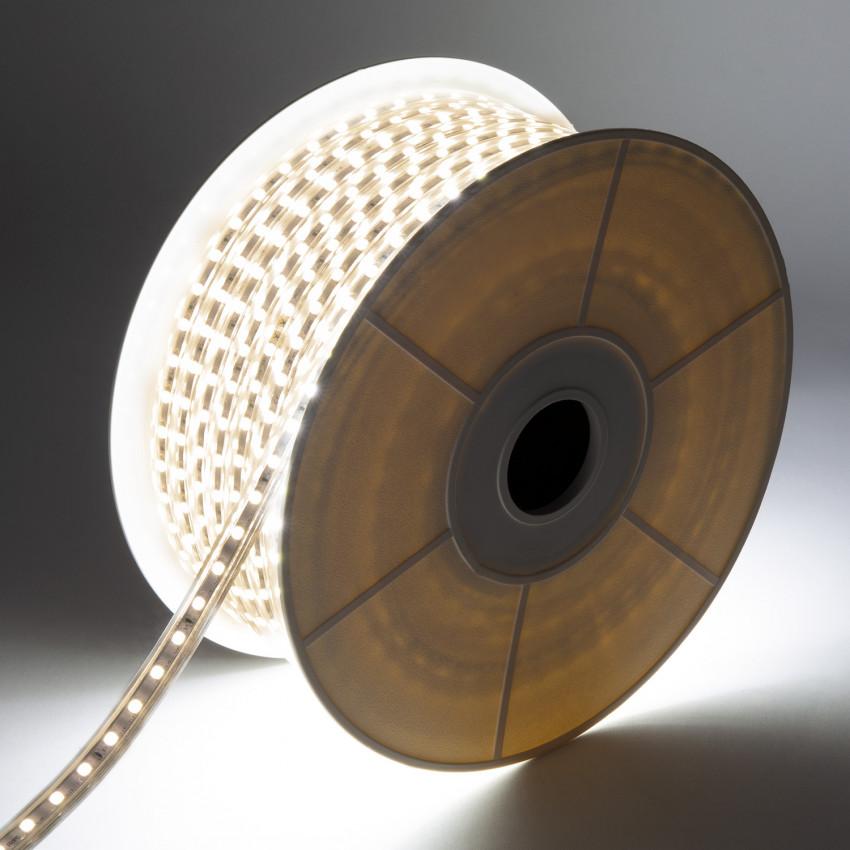 Bobina Striscia LED 220V AC SMD5050 60 LED/m Bianco Caldo (50 Metri) Taglio ad Ogni 100cm