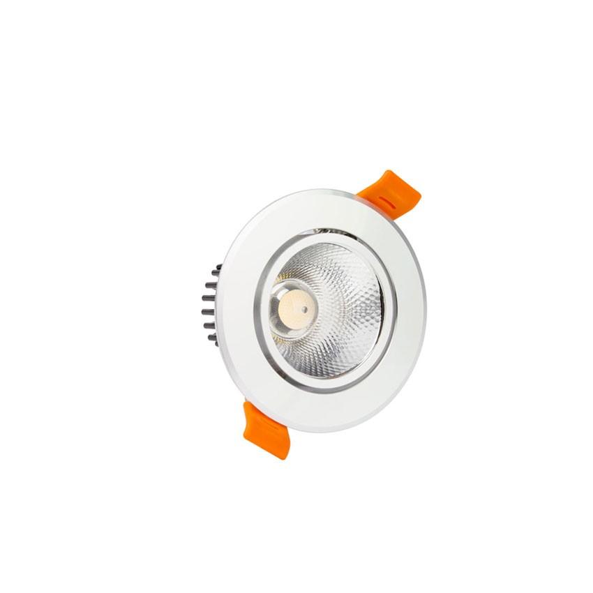 Faretto Downlight LED COB Orientabile Rotondo 3W Argento