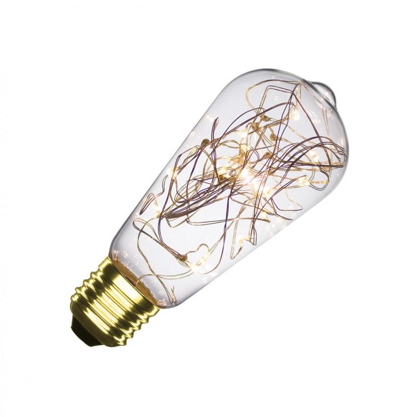 Lampadina LED E27 Regolabile Filamento Fairy Lights Lemon ST58 1.5W