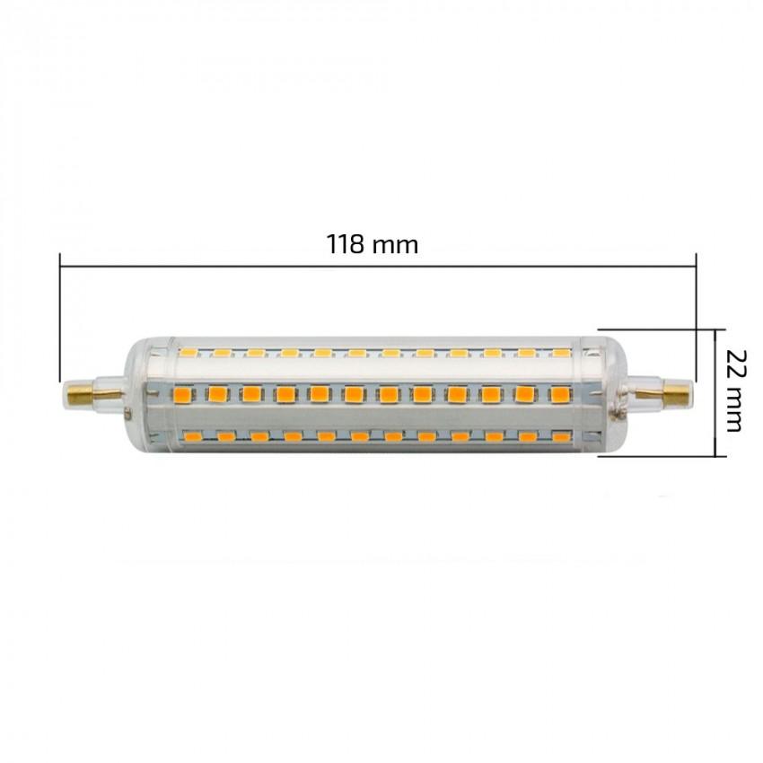 Lampadina led r7s slim 118mm 10w ledkia italia for Lampada led r7s 118mm