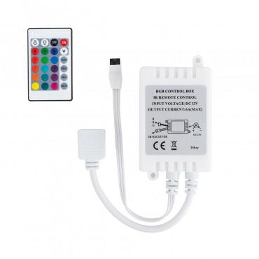 Controller striscia led rgb 12v dimmer per telecomando ir for Striscia led rgb