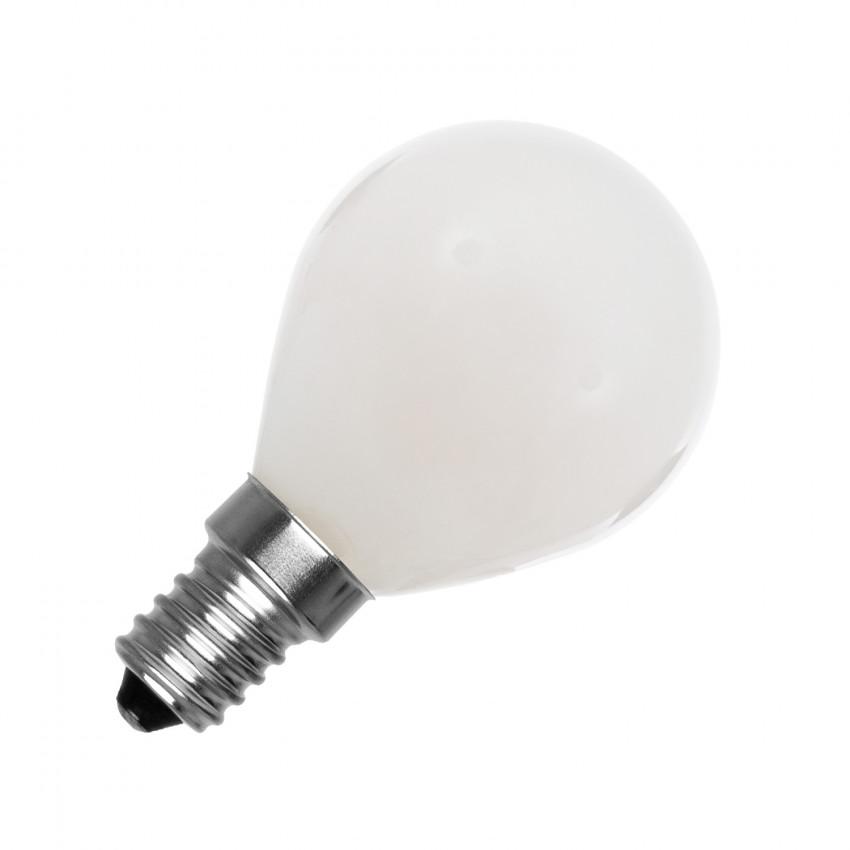 Lampadina LED E14 G45 Sferica Glass 4W