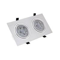 Faretto LED Downlight Rettangolare 2x5x1W