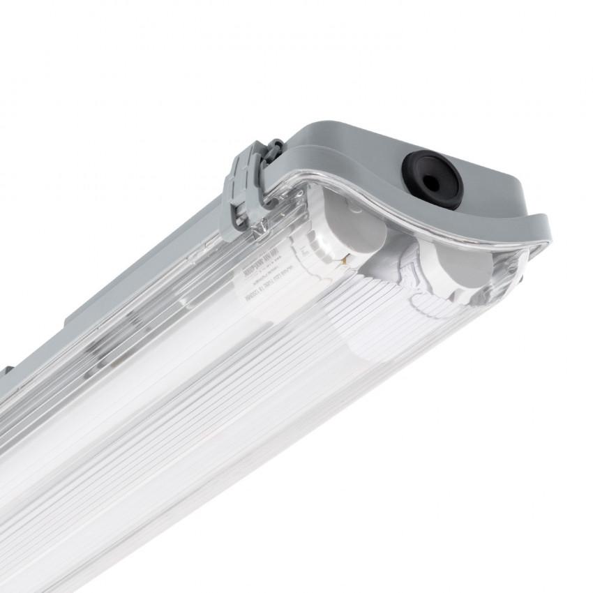 Kit Plafoniera Stagna Slim con due Tubi LED 600mm Connessione Unilaterale