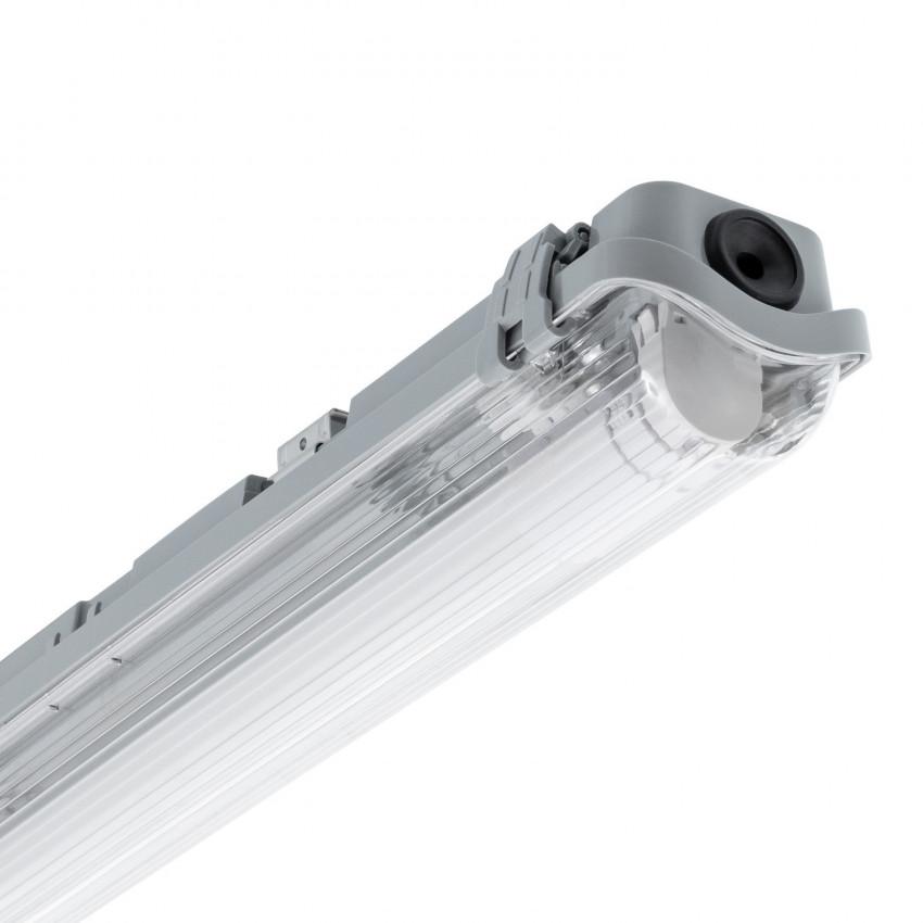 Kit Plafoniera Stagna Slim con un Tubo LED 1200mm PC/PC Connessione Unilaterale