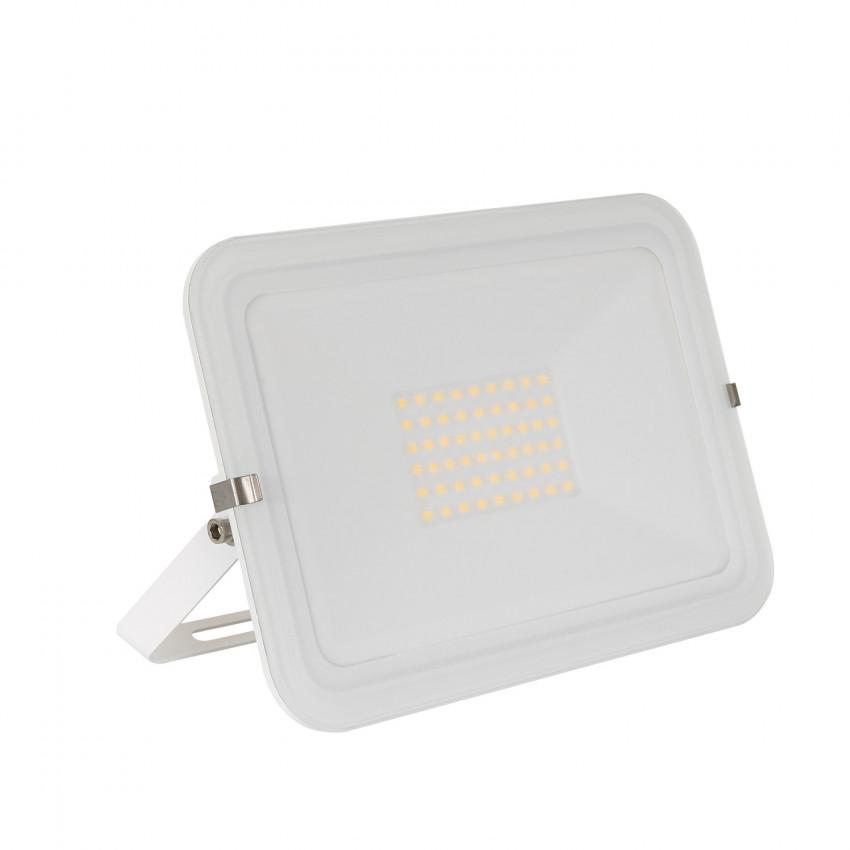 Proiettore LED Slim 50W 120lm/W IP65 Vetro Bianco