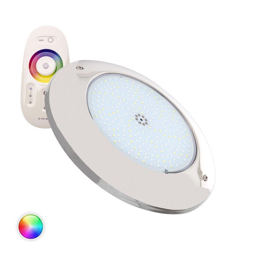 Faretto Piscina LED Superficie RGBW 12V DC Acciaio Inox 20W