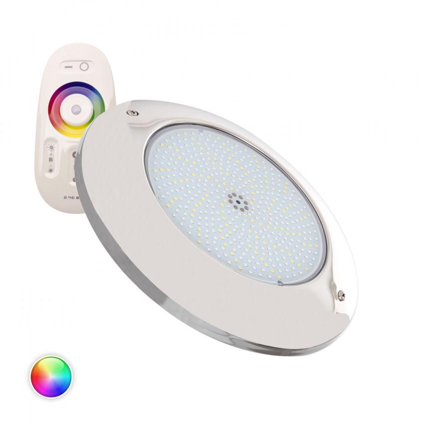Faretto Piscina LED Superficie RGBW 12V DC Acciaio Inox 35W