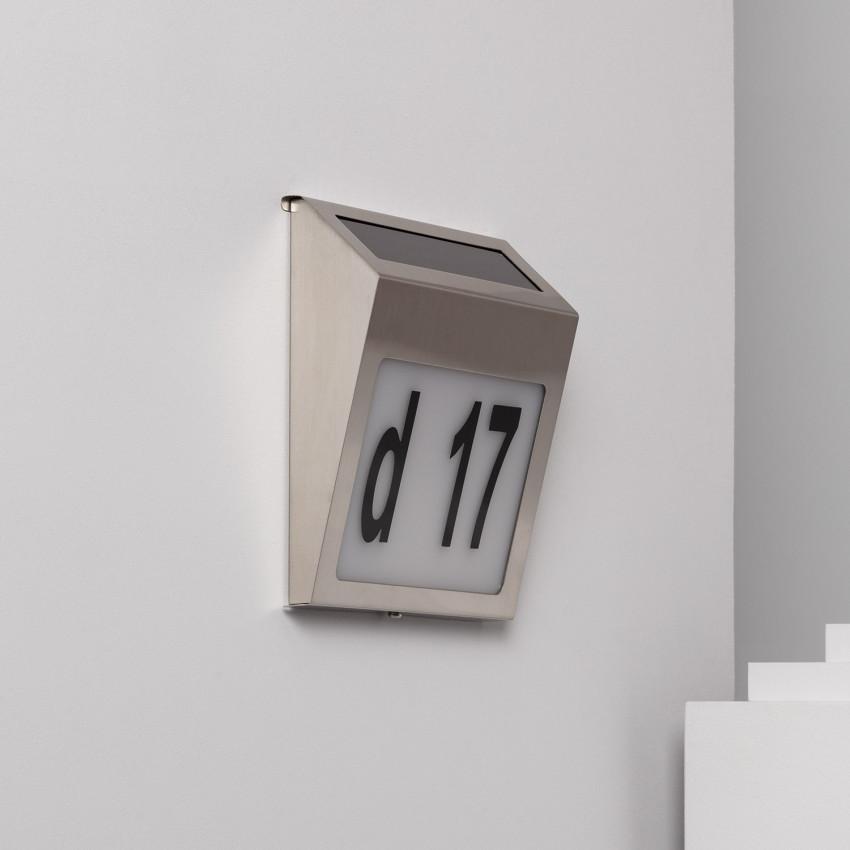 Applique da Parete LED Solare Barua per Numero Civico