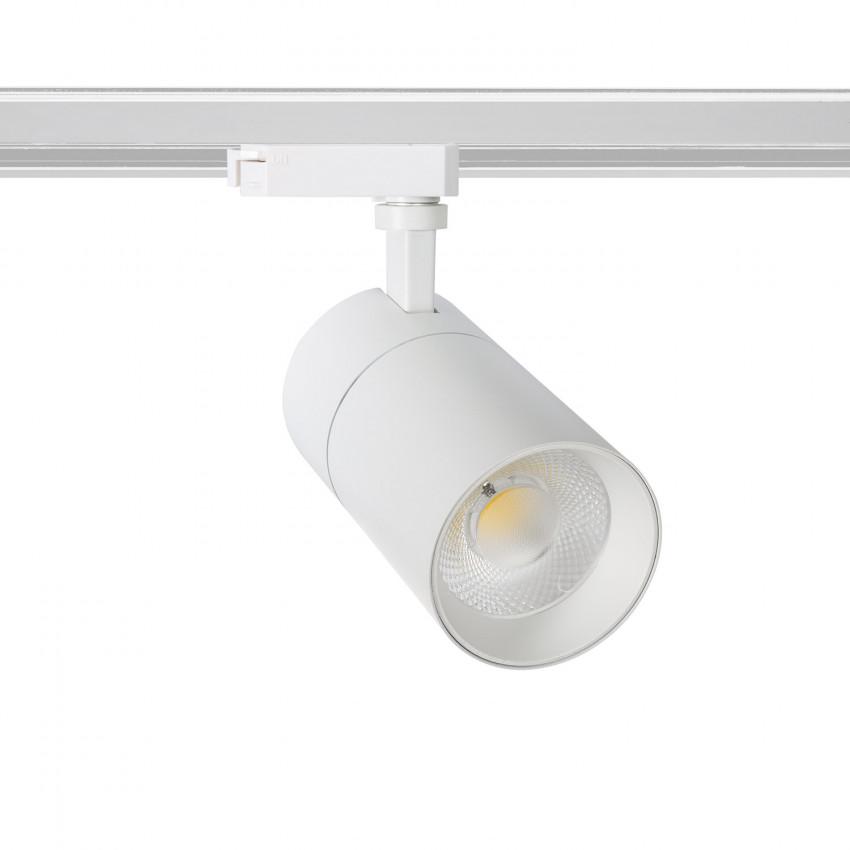Faretto LED New Mallet Bianco 20W Regolabile No Flicker per Binario Monofase (UGR 15)