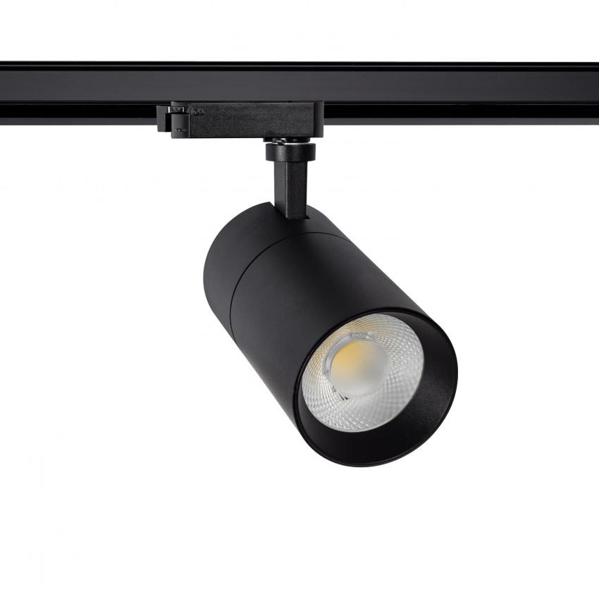 Faretto LED New Mallet Nero 20W Regolabile No Flicker per Binario Monofase (UGR 15)