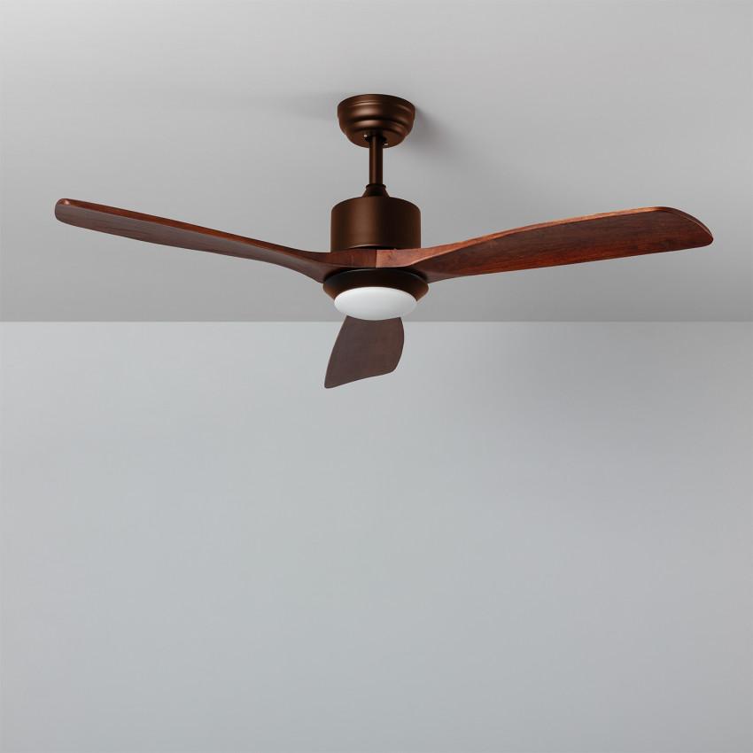 Ventilatore da Soffitto LED Forest Marrone 132cm con motore DC