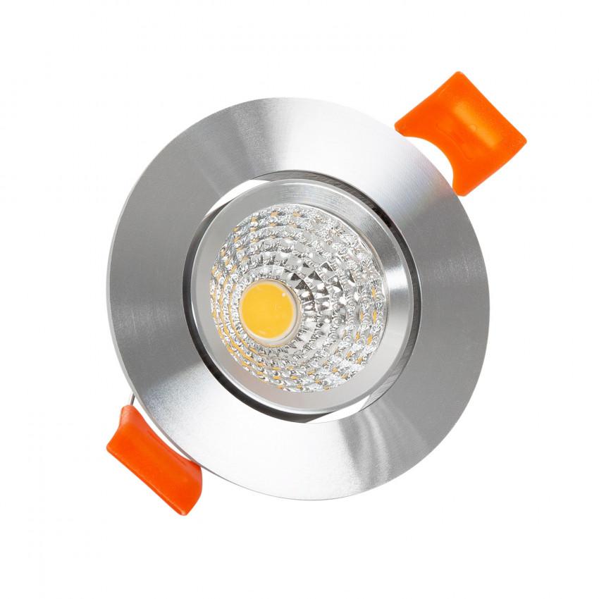 Foco LED Downlight Circular COB 3W Plata