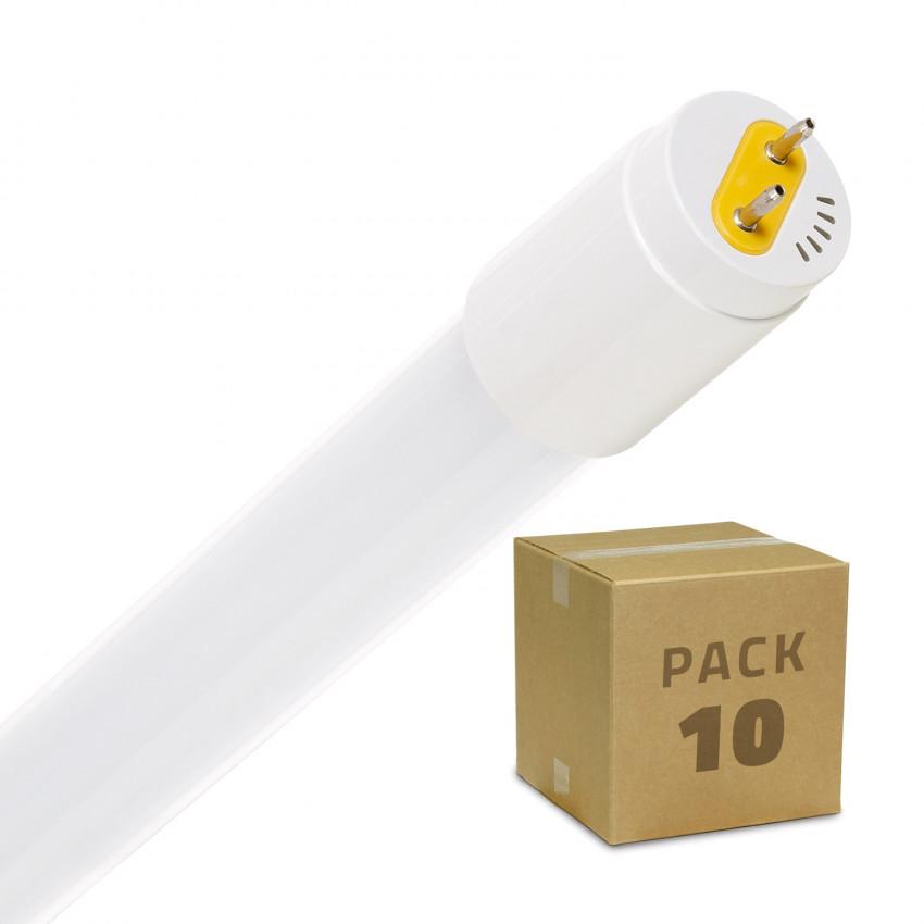 Pack Tubo LED T8 Vetro 1200mm Connessione Unilaterale 18W 110lm/W (10 Un.)