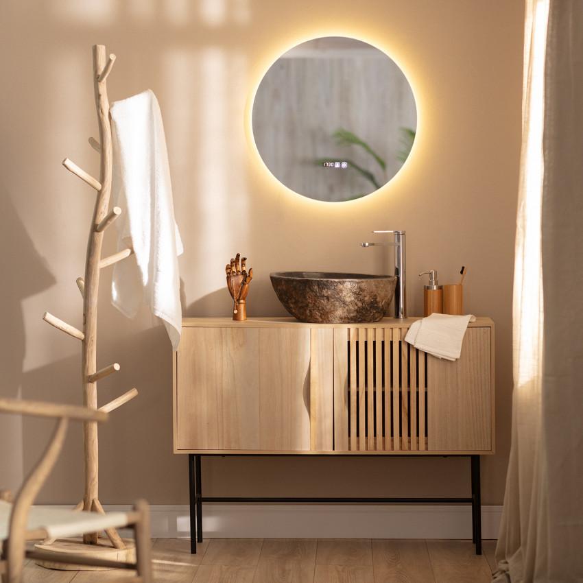 Specchio LED Antiappannamento Touch Big Volpe Ø60 cm