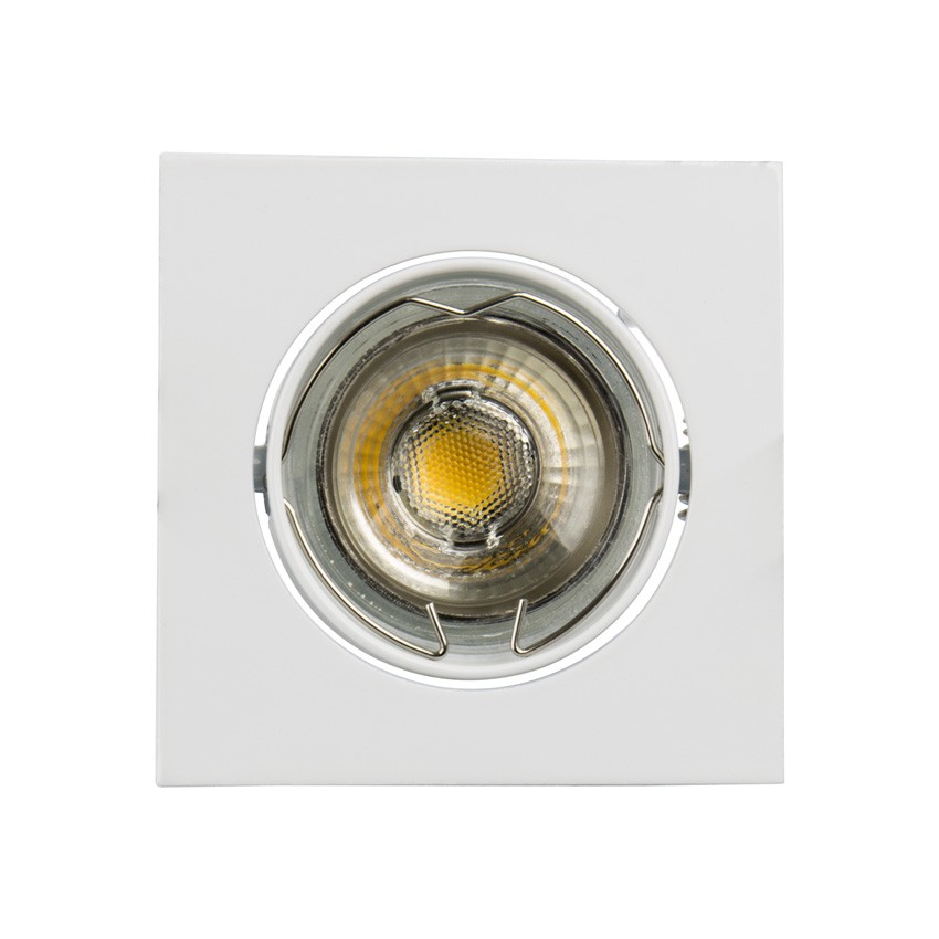 Square Tilting Halo Downlight For A Gu10 Gu5 3 Led Bulb