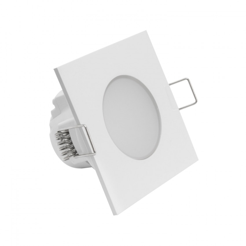 Square 5W Waterproof LED Downlight IP54 Ø 65mm Cut-Out