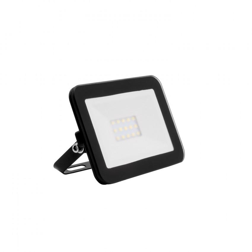 Black 10W 120lm/W IP65 Glass Slim LED Floodlight