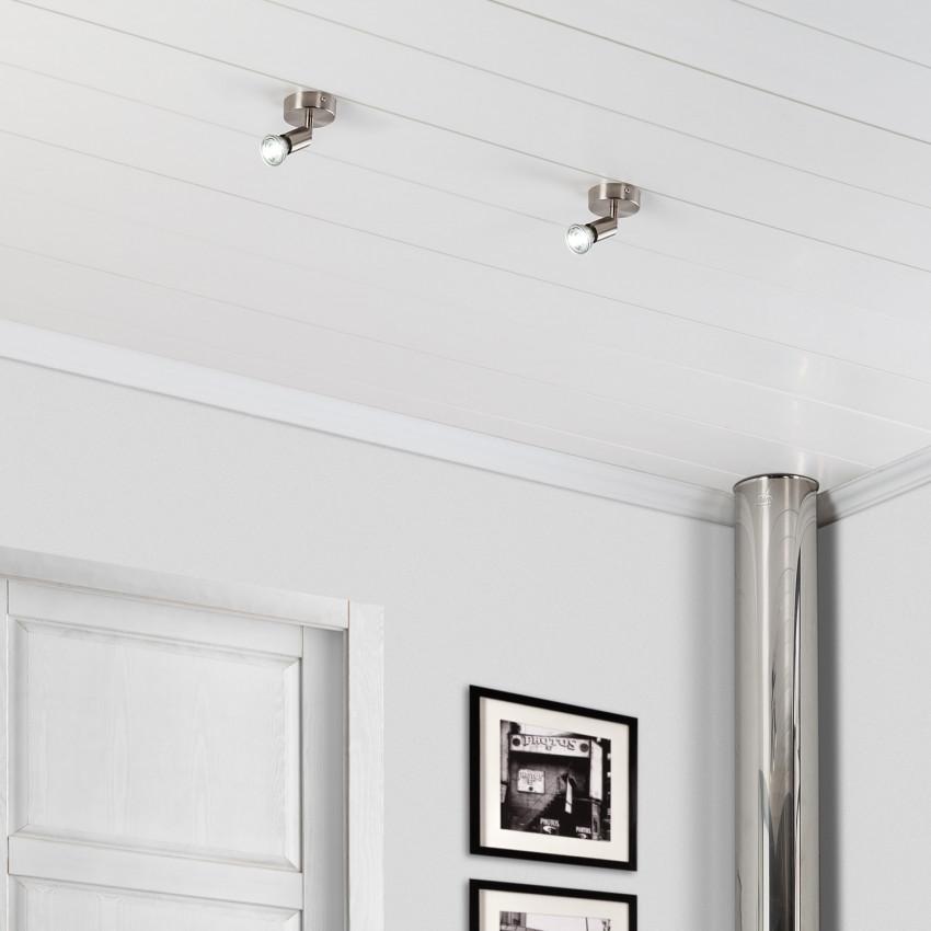 Adjustable Oasis Ceiling Spotlight in Silver
