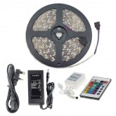 KIT: 5m 48W 60LED/m IP65 RGB LED Strip with Remote, Controller and Power Supply