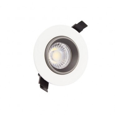Round Adjustable 7W 360º COB LED Design Downlight