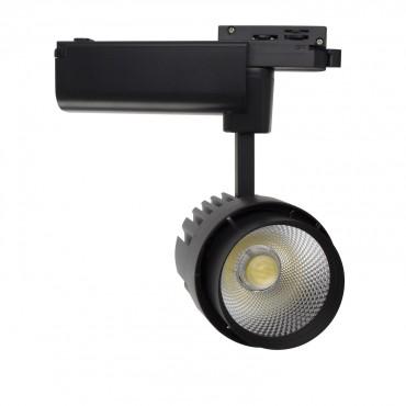 Black 30W Dora LED Spotlight for a Single-Circuit Track