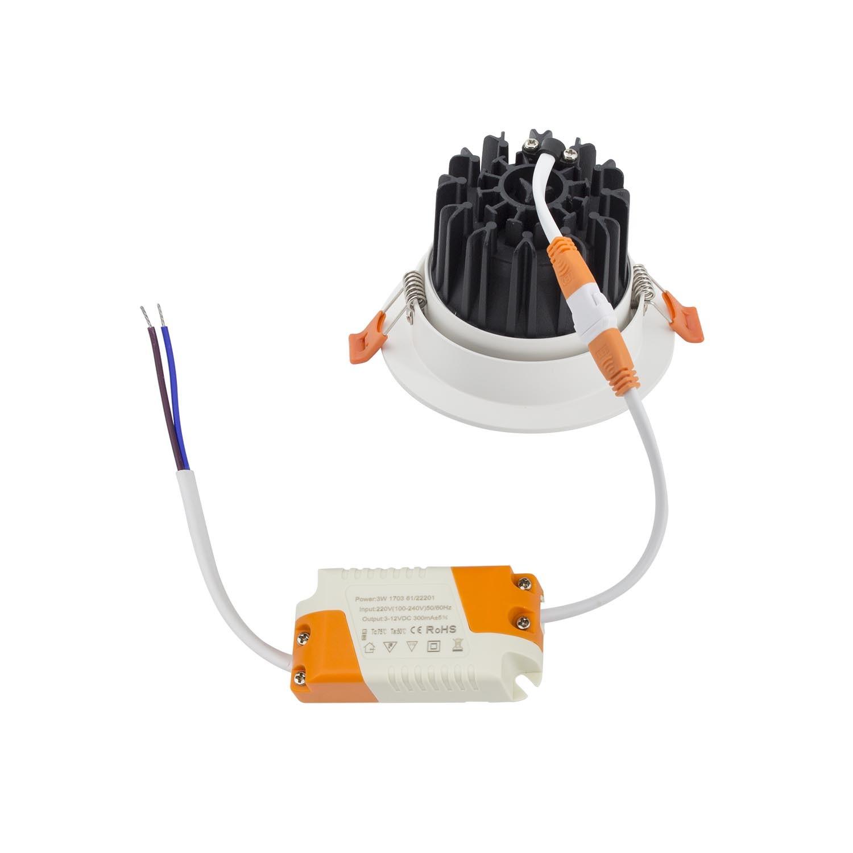 Ledkia Wiring Downlights Diagram 240v Foco Led Downlight Circular Cob 9w Blanco