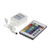12V RGB LED Strip Controller + IR Remote Control Dimmer with 24 Buttons