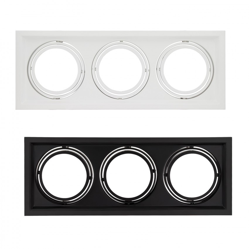 Square Tilting Halo Downlight for 3x AR111 LED Bulbs