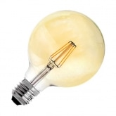 G125 E27 6W Supreme Gold Filament LED Bulb (Dimmable)