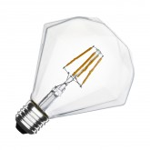 G105 E27 3.5W LED Diamond Filament Bulb (Dimmable)