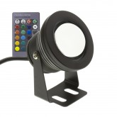 Black 7W RGB LED Surface Spotlight