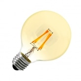 G80 E27 6W Balloon Gold Filament LED Bulb (Dimmable)