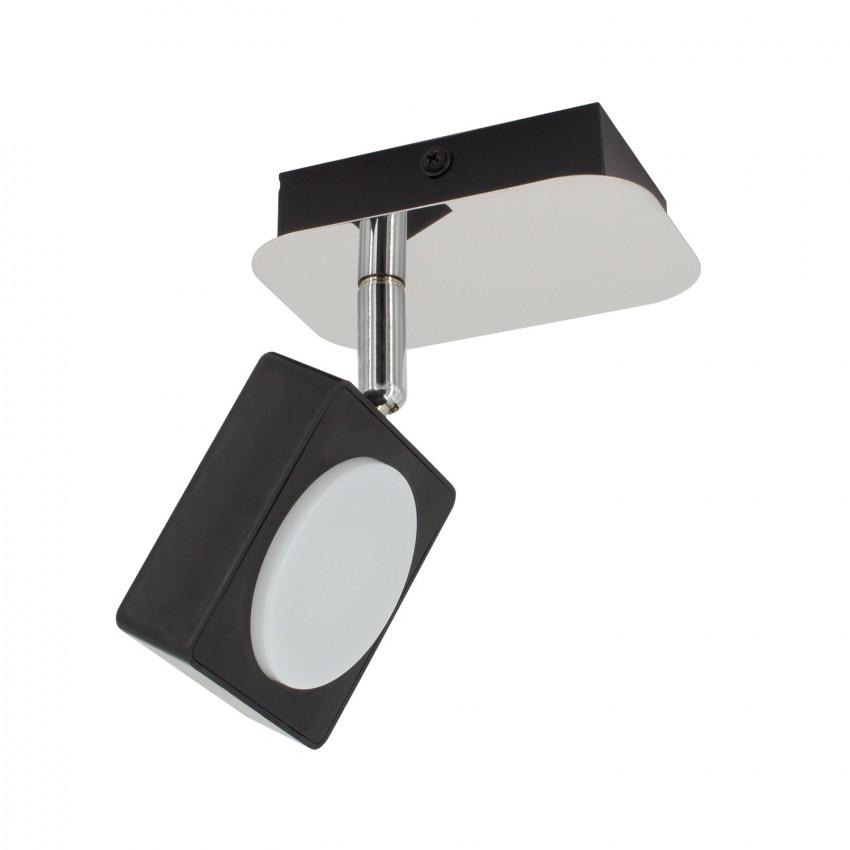 Adjustable 6W Capri LED Surface Spotlight in Black (x1)