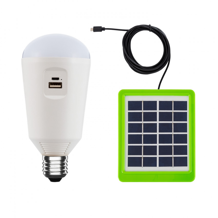 Portable 7W E27 LED Bulb with Solar Charger