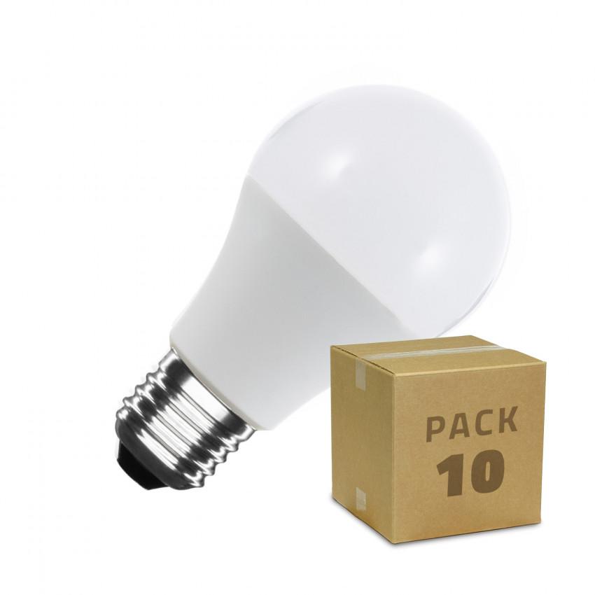 Pack of A60 E27 12W LED Bulbs (10 Units)