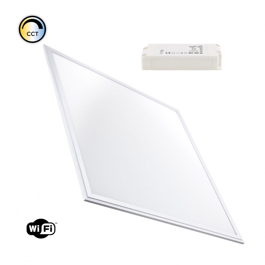 60x60cm 40W Smart WiFi Dimmable LED Panel with Selectable Color CCT