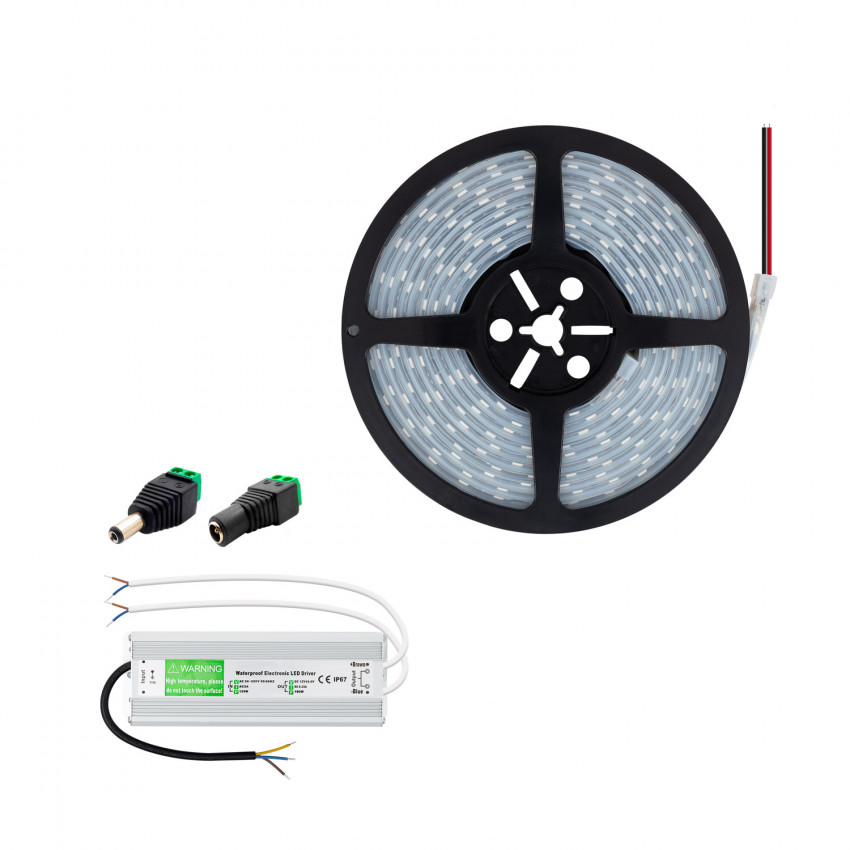 KIT: 5m 70W 120LED/m IP67 LED Strip with Power Supply IP67