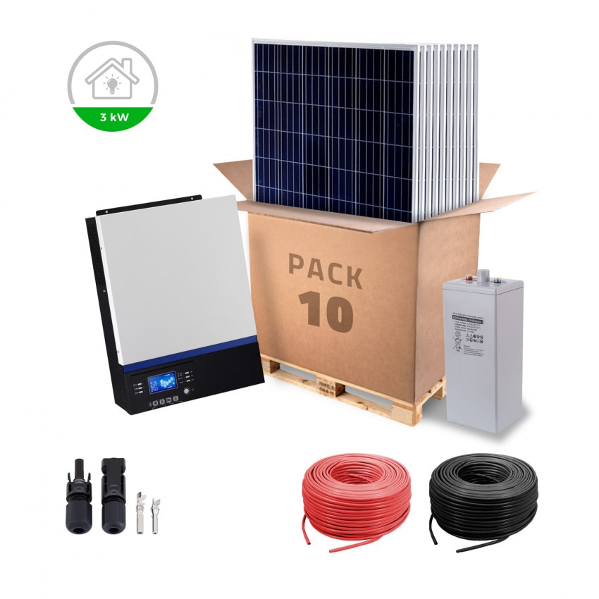 3KW 24V Self-Consumption Kit  for Small Remote Homes