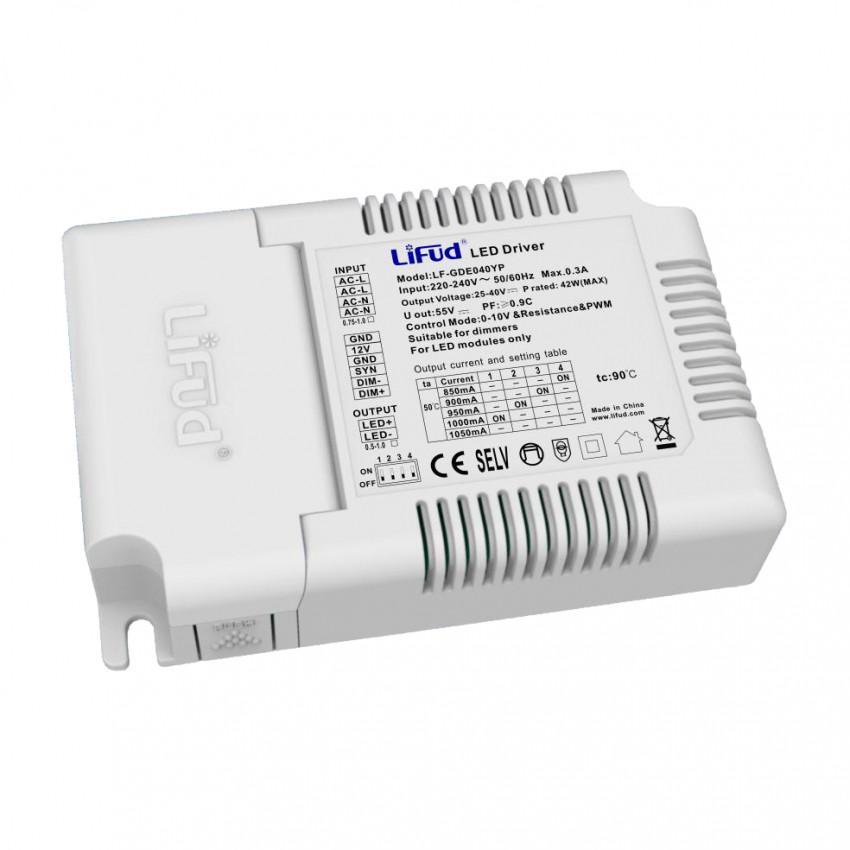32-42W 220-240V 27-40V 1050mA Output Flicker Free 1-10V Dimmable LIFUD Driver LF-GDE040YP