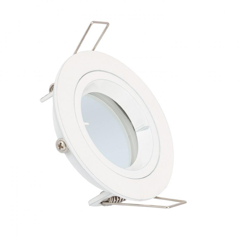 White Round Halo Downlight for GU10 / GU5.3 LED Bulbs