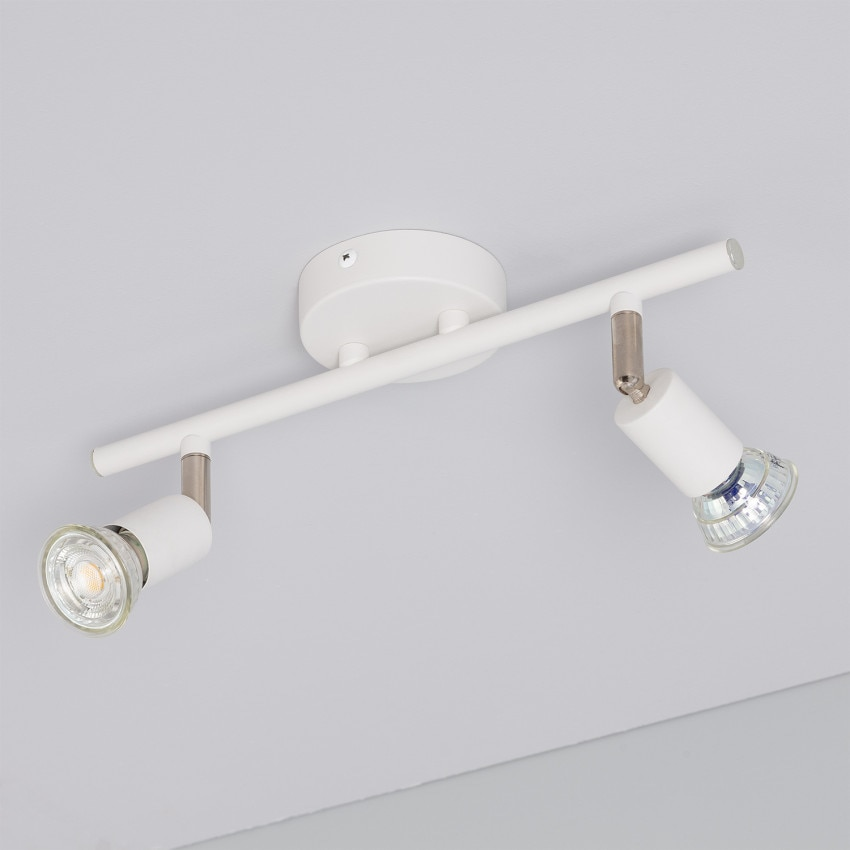 Adjustable Oasis Ceiling Spotlight (x2) in White