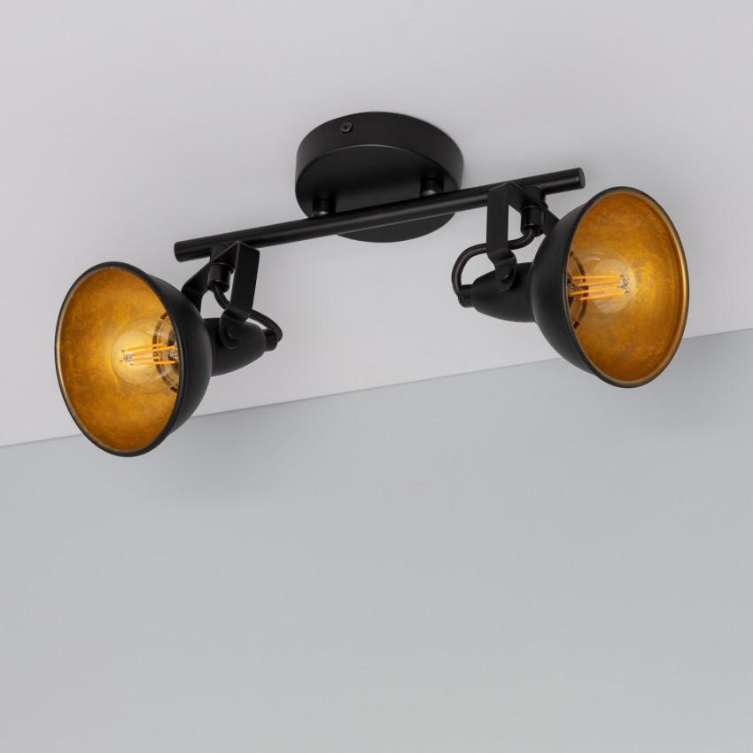 Adjustable Emer Surface Spotlights in Black (x2)