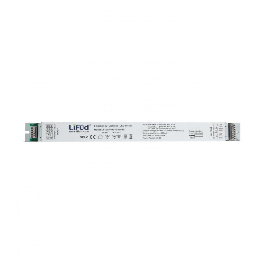 40W 100-277V 30-40V Output 1000mA Flicker-Free LIFUD Emergency Driver LF-GSP040YD