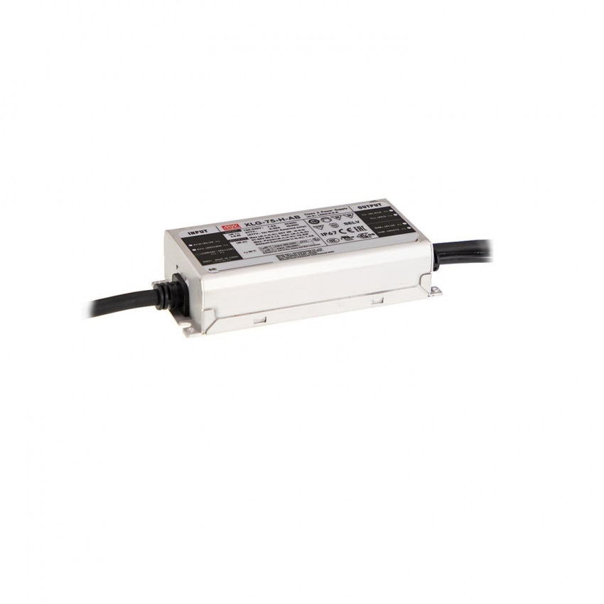 75W 27-56V Output 100-240V 1300-2100mA IP67 MEAN WELL Driver XLG-75-H-AB