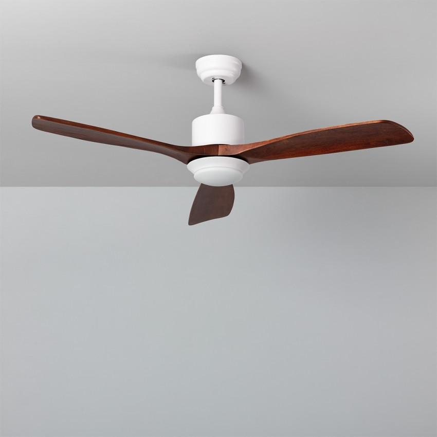Wooden 132cm Motor AC 'Forest' LED Ceiling Fan Selectable CCT