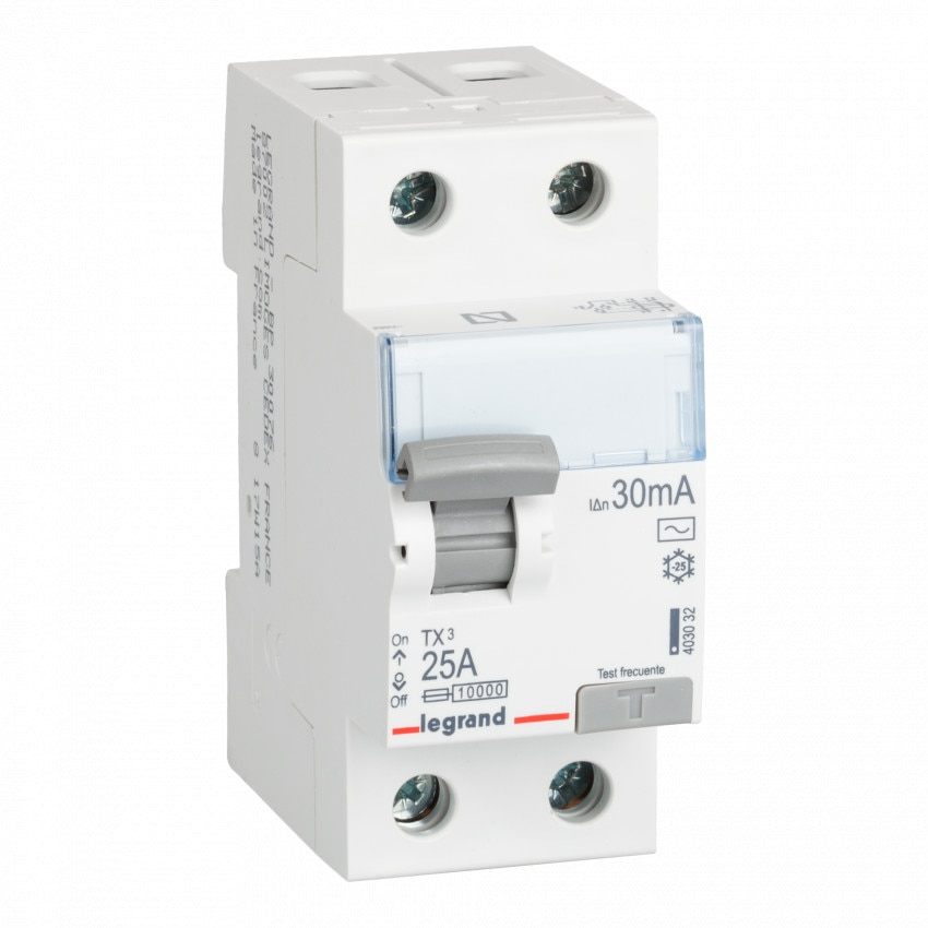 LEGRAND 403032 Class AC 25-40 A TX3 Tertiary 2P-30mA  Differential Switch