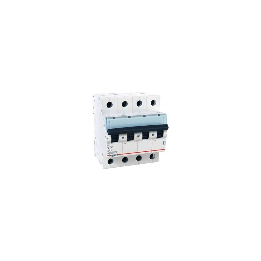 LEGRAND 403625 Curve C 6kA 10-40 TX3 Tertiary 4P Thermal-magnetic Circuit Breaker